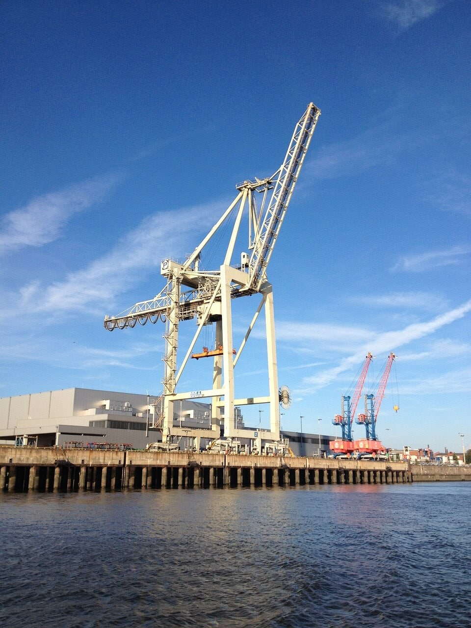 crane in Hamburg Port