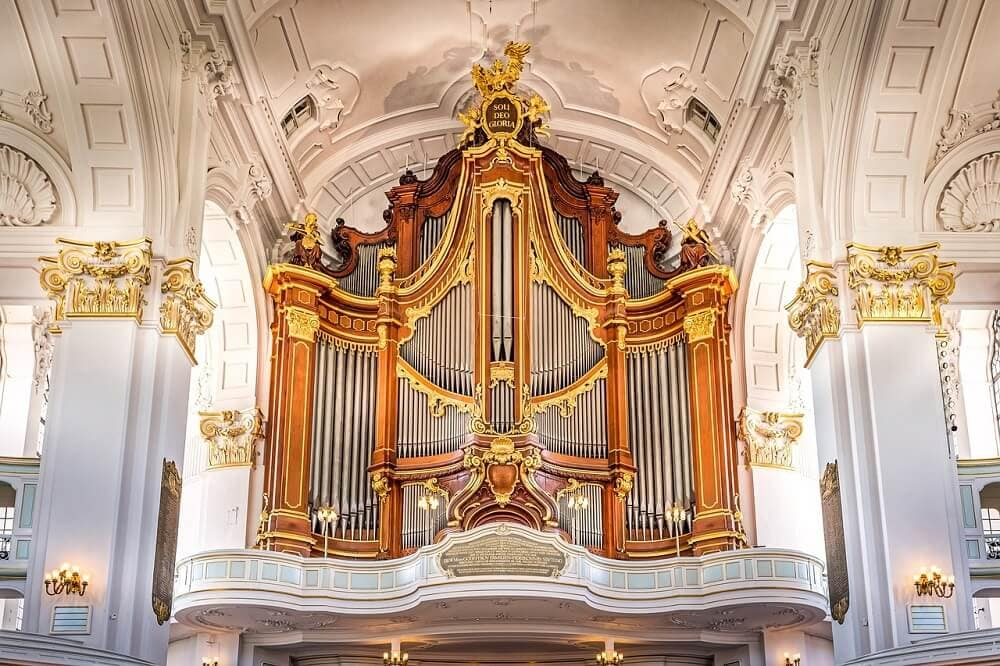 organ at St. Michael's Church in Hamburg