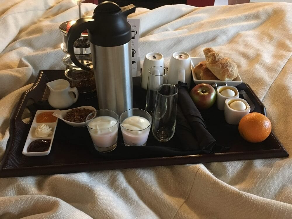 breakfast at the Sterling Inn and Spa in Niagara Falls Canada