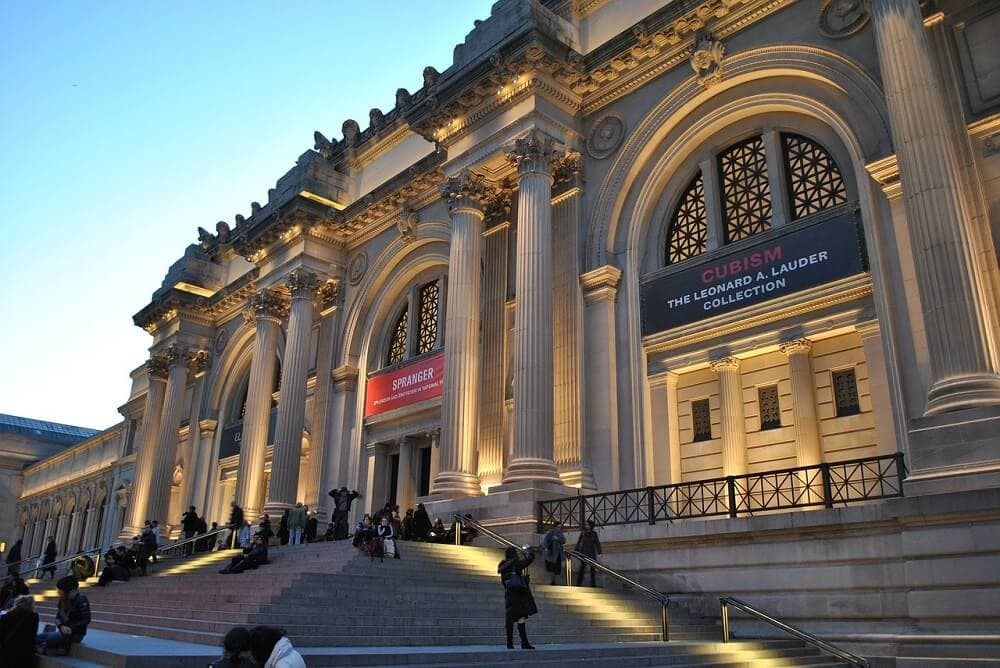 front of the Metropolitan Museum in nyc