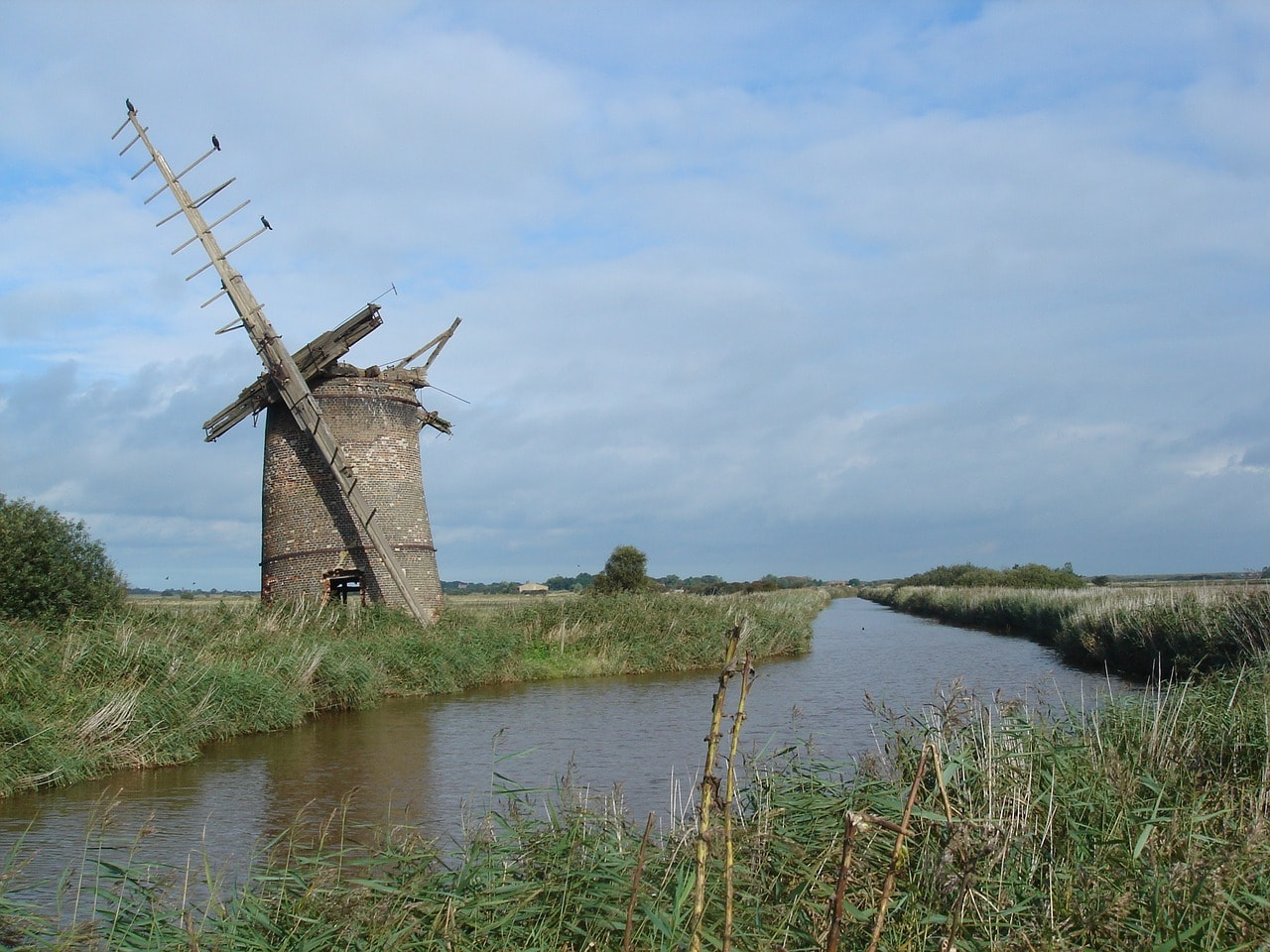 windmill in the Norfolk Broads