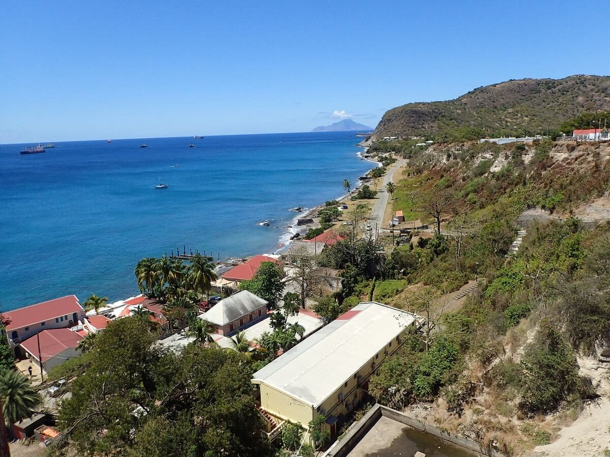 view from St. Eustatius