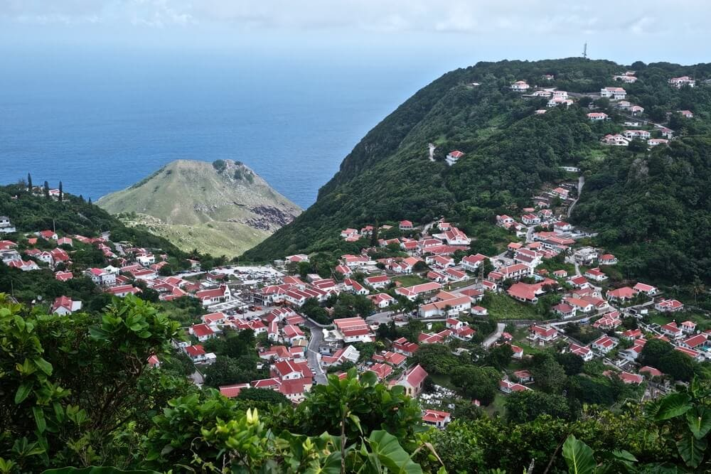 View of Saba an easy day trip from St. Martin