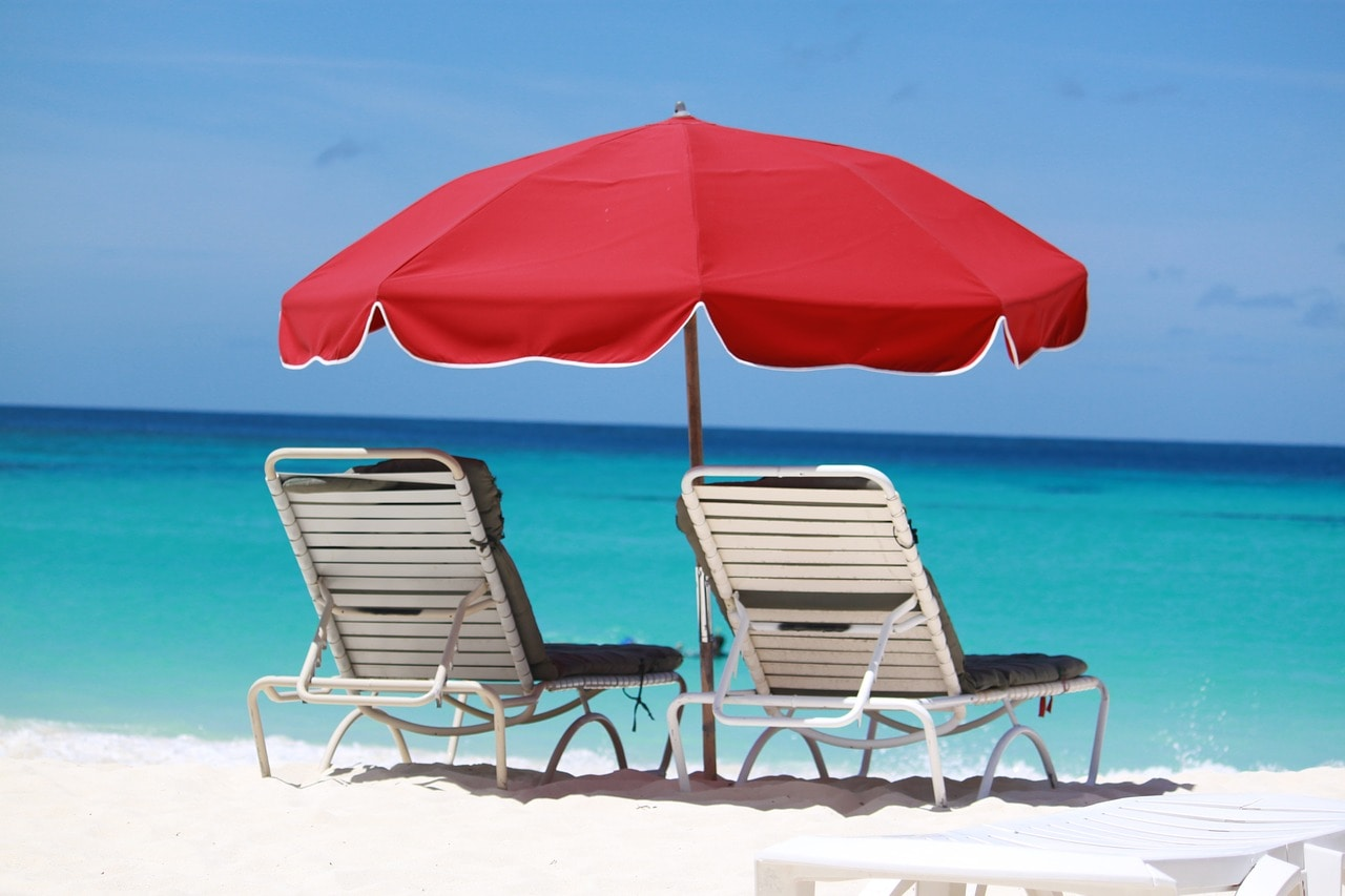 beach chairs on Anguilla