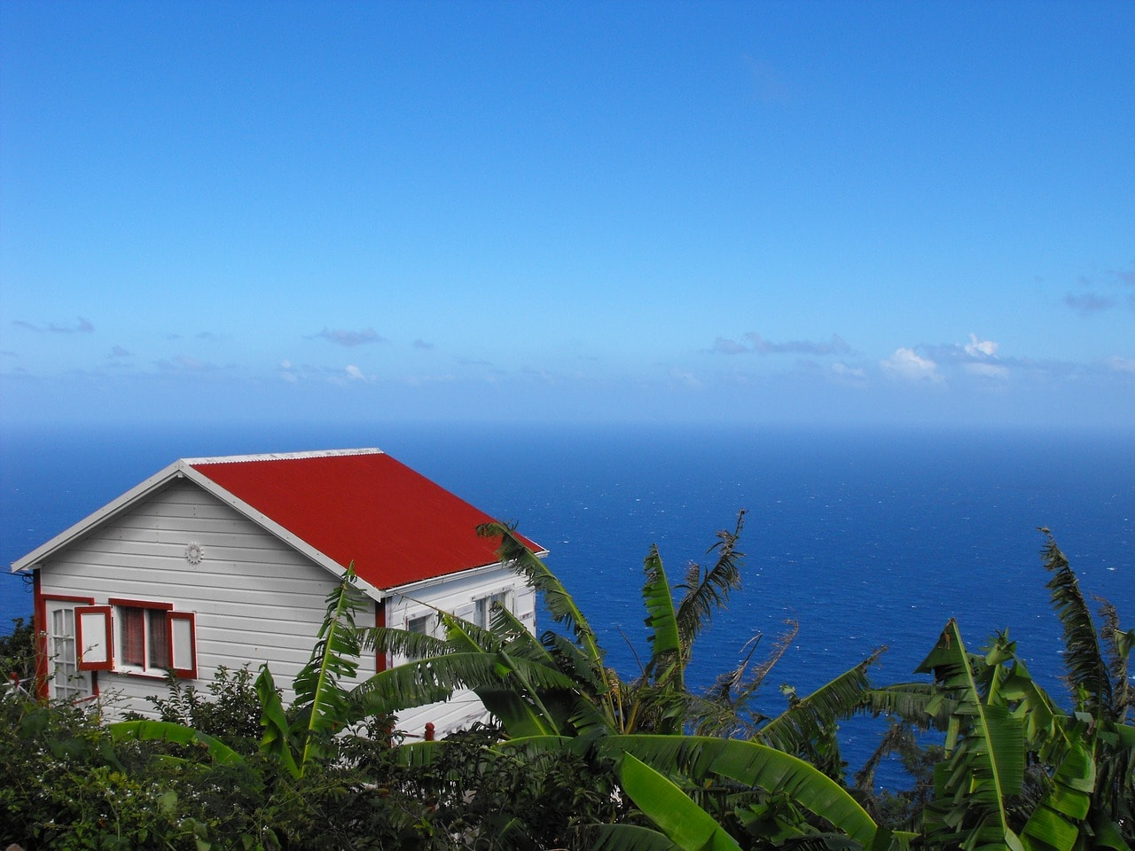 view from Zion Hill on Saba near St. Martin