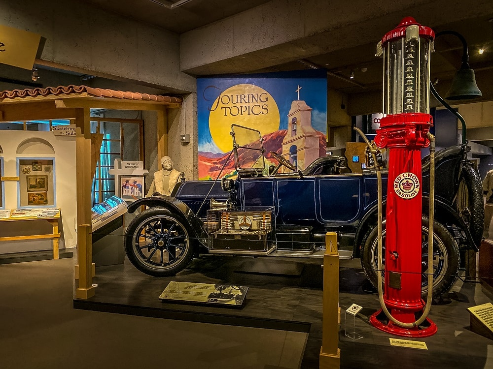 old car in california history gallery at the oakland museum of california