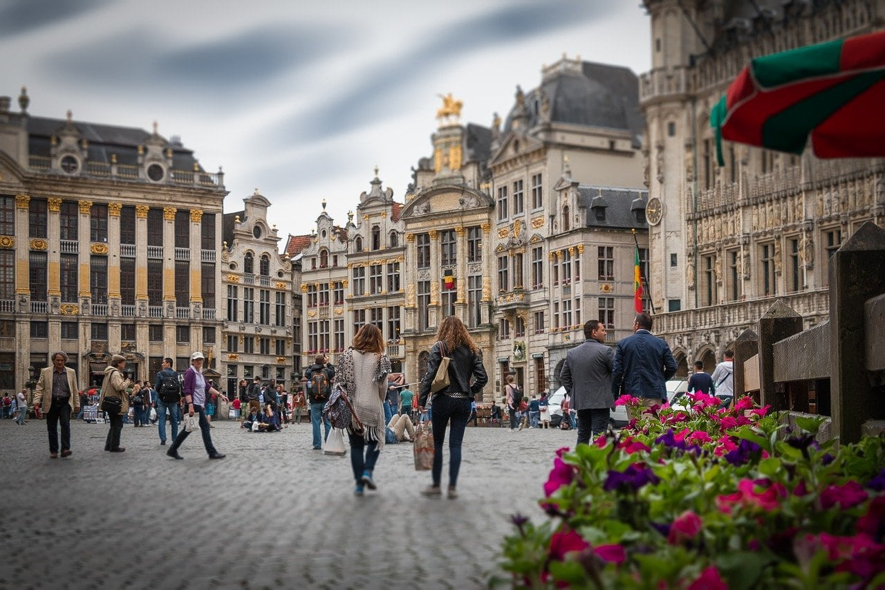 the grand place during the day