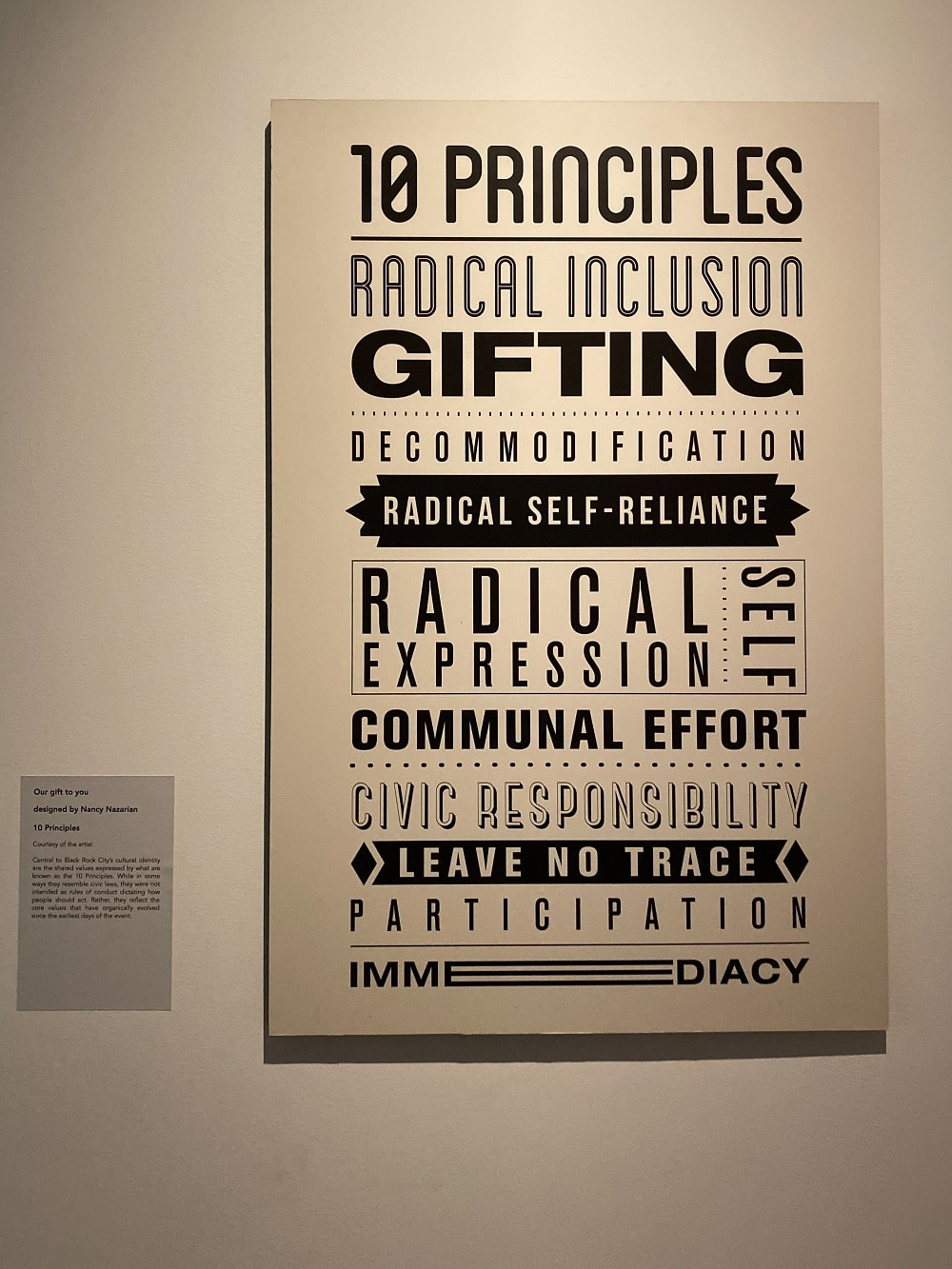 artwork explaining the principles of burning man