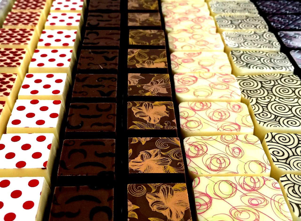 pretty belgian chocolates