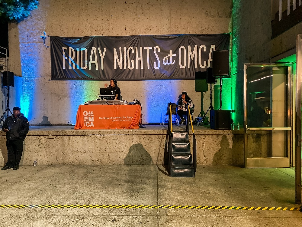 dj at the friday nights at the oakland museum