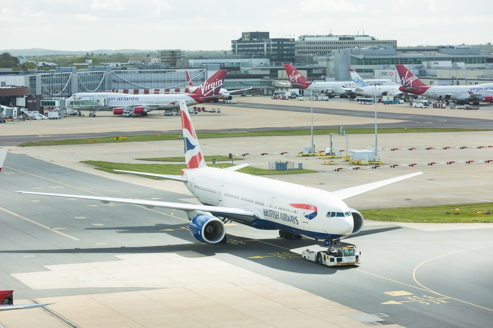 airplane at Gatwick Airport in London