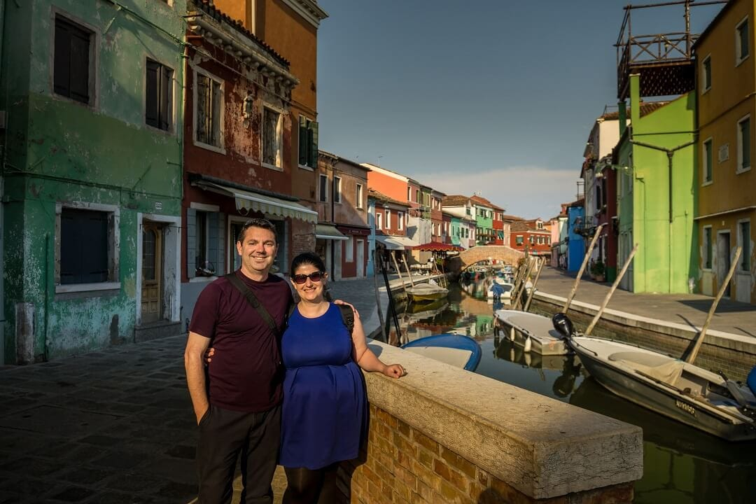Russell and Anisa in Burano
