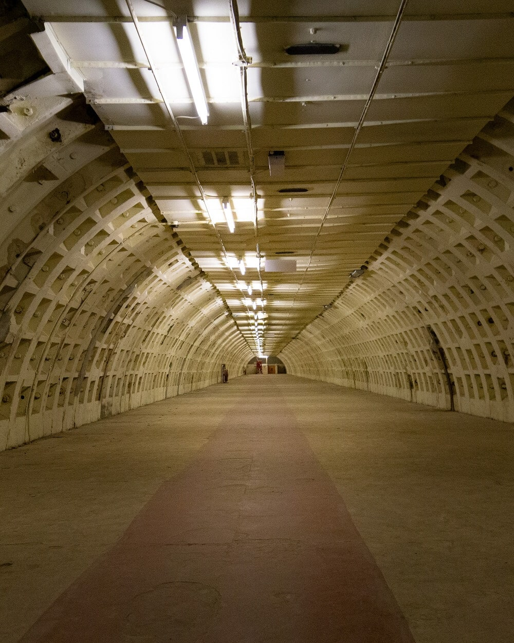 tunnel at clapham south shelter