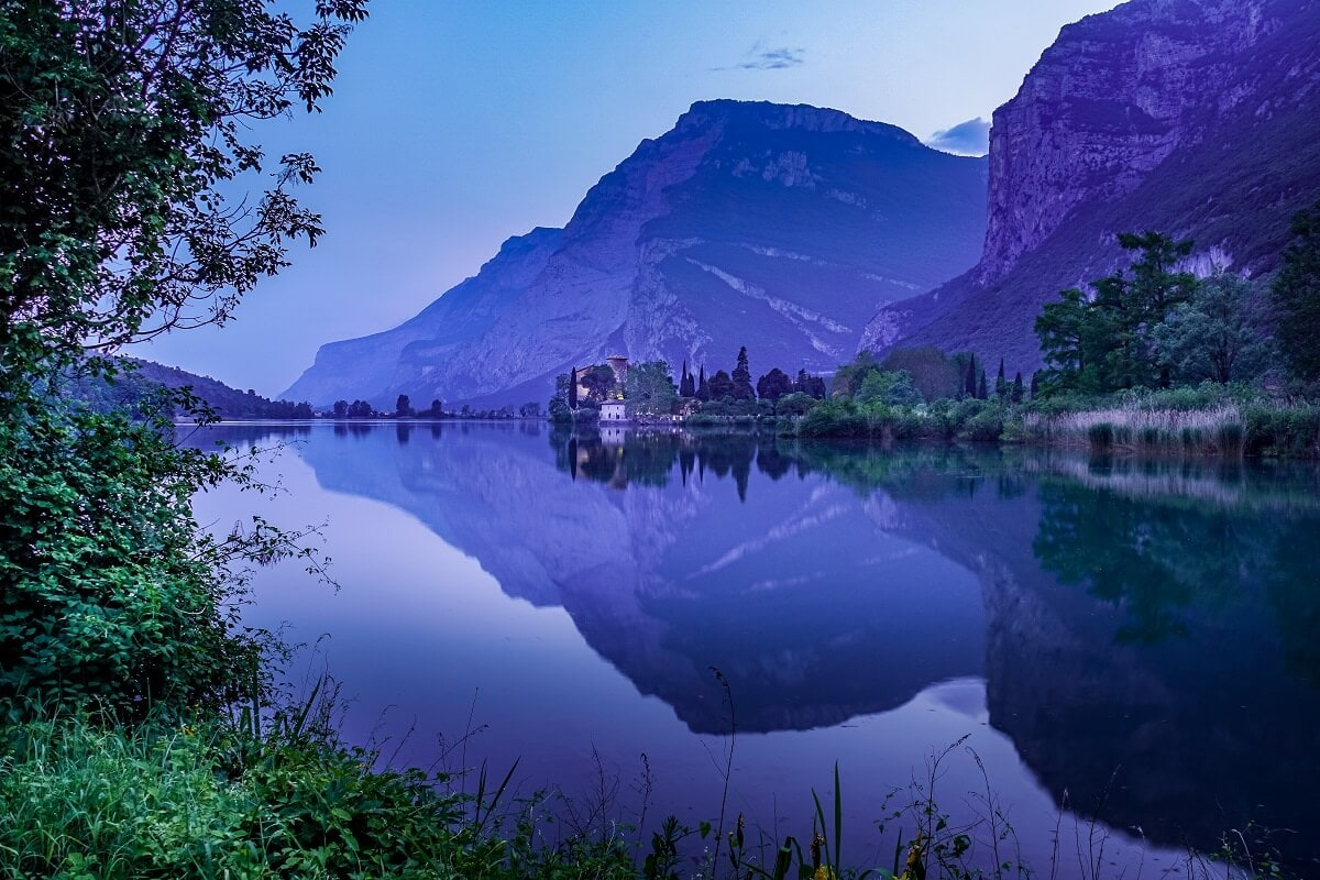 Lake Toblino in Trentino Italy