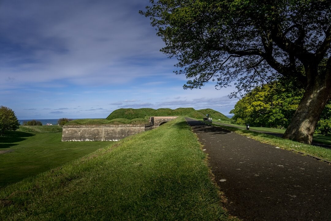Elizabethan walls in berwick-upon-tweed