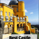 pena palace in sintra with text overlay best castle virtual tours