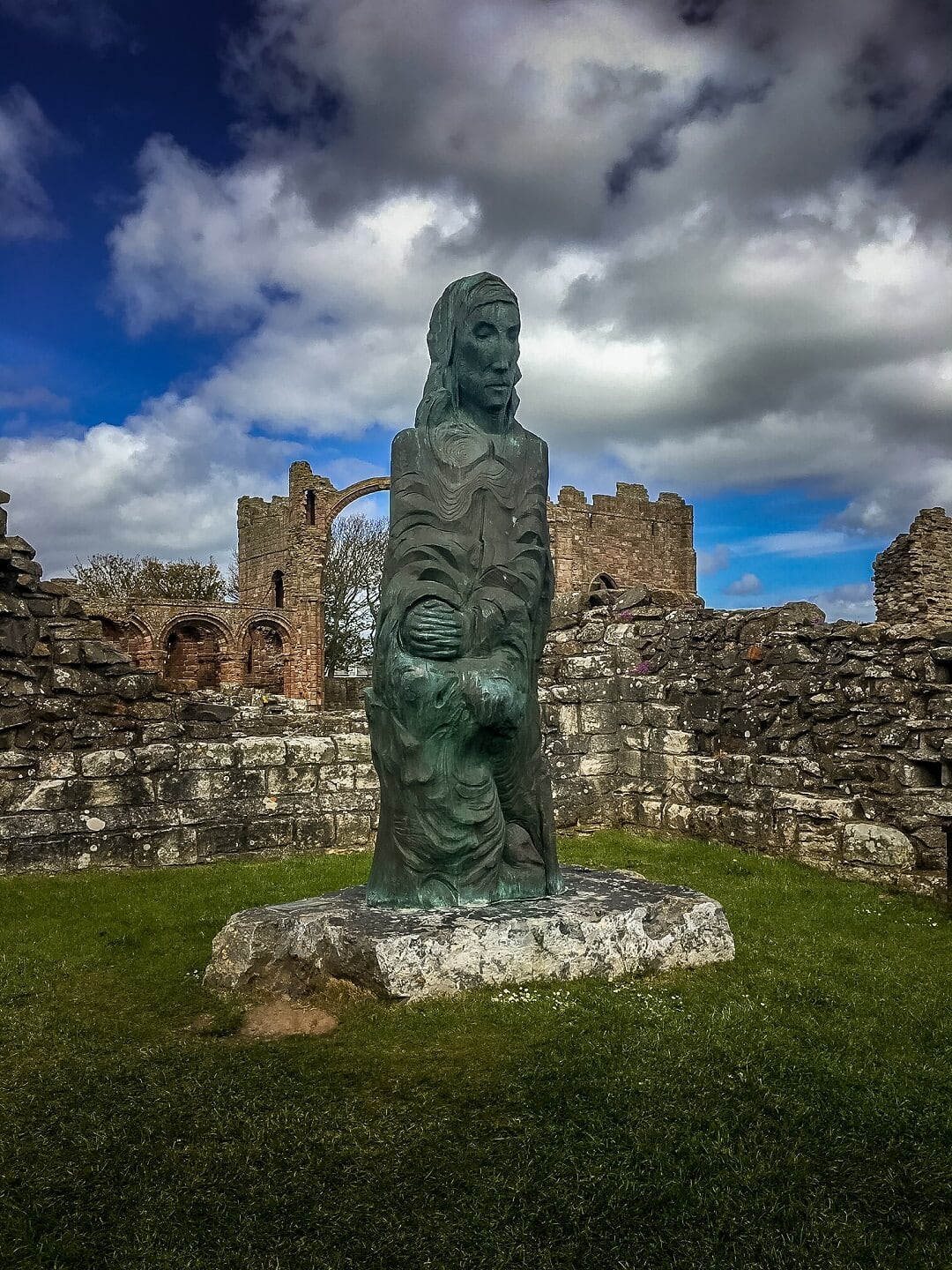 St. Cuthbert Sculpture in the Lindisfarne Priory