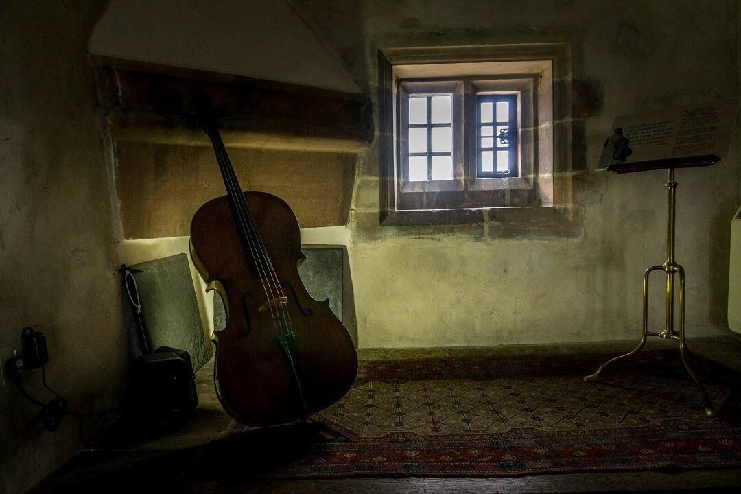 musical instrument inside Lindisfarne castle