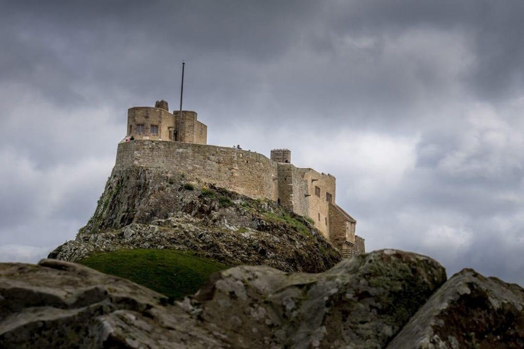 closeup of Lindisfarne Castle