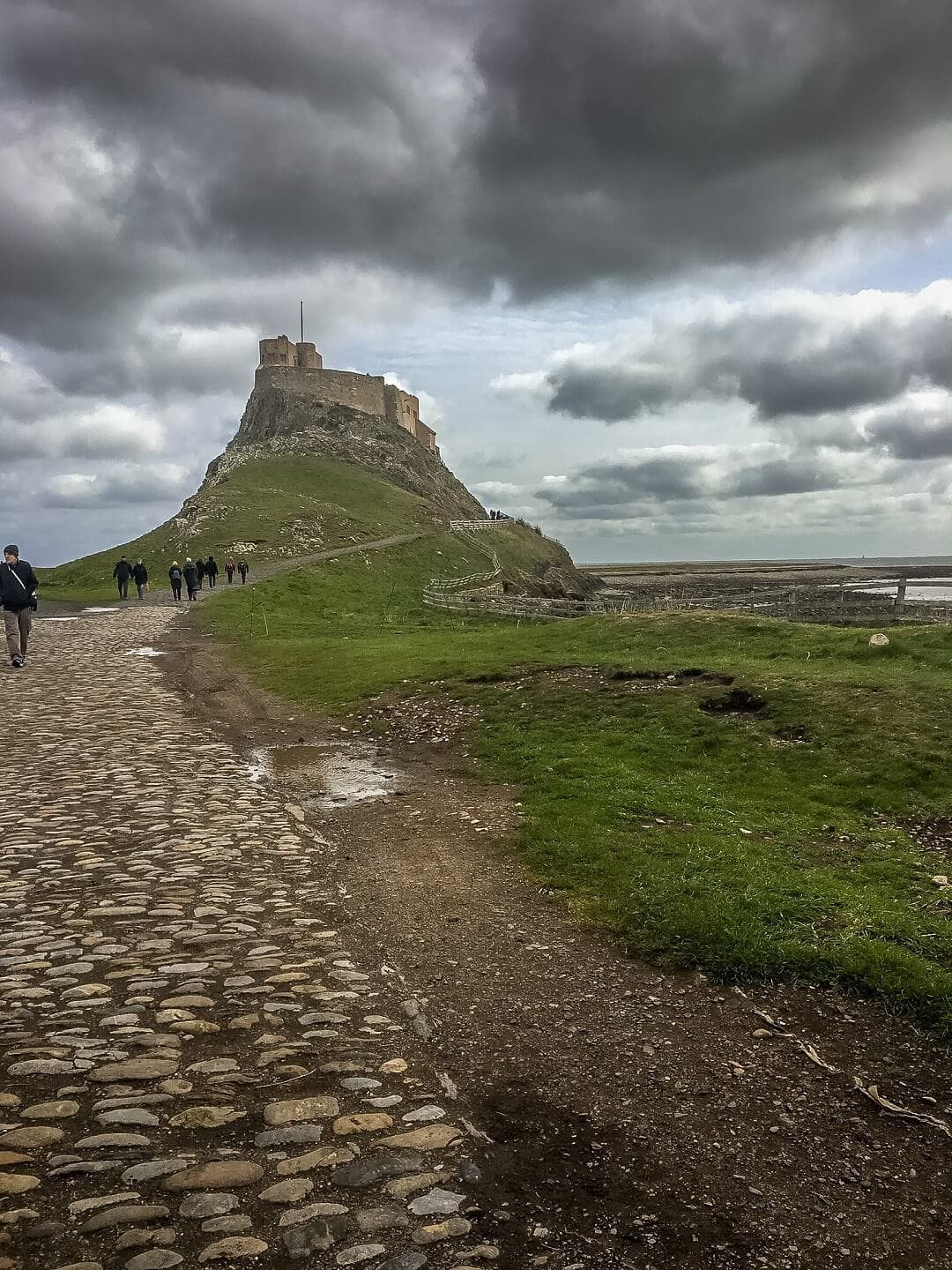 view of lindisfarne castle