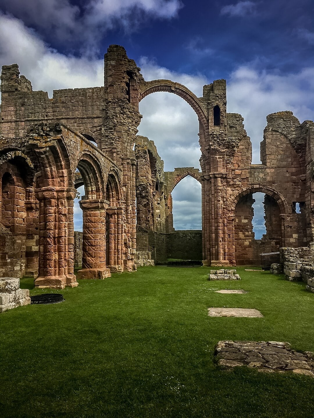 rainbow arch at Lindisfarne Priory