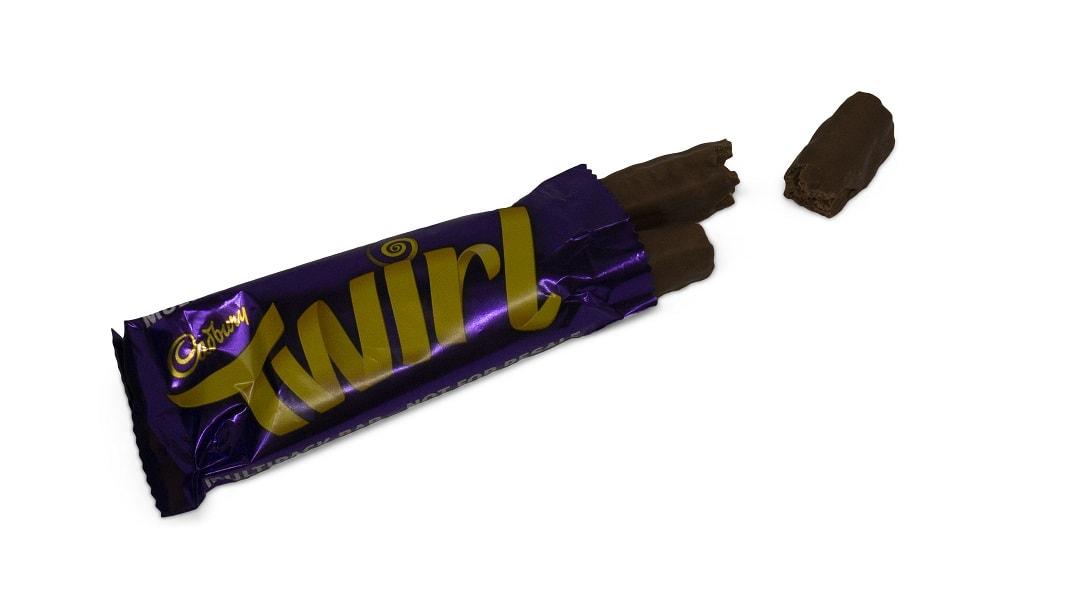twirl candy bar by Cadbury's