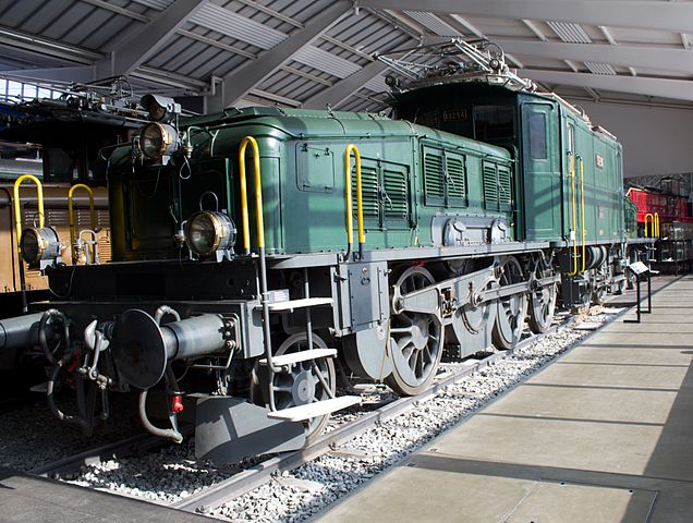 train from Switzerland's transport museum