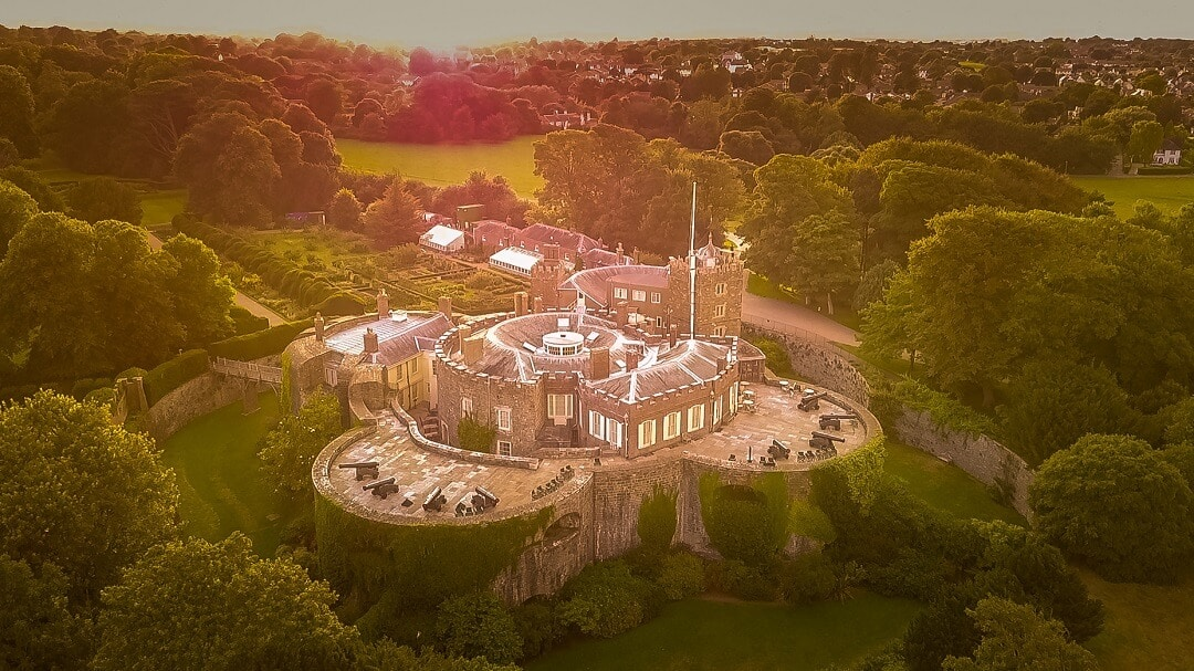 aerial view of Walmer Castle