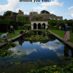 "queen mother garden at walmer castle with text overlay ""Walmer or Deal, which Henrician castle should you visit?"""