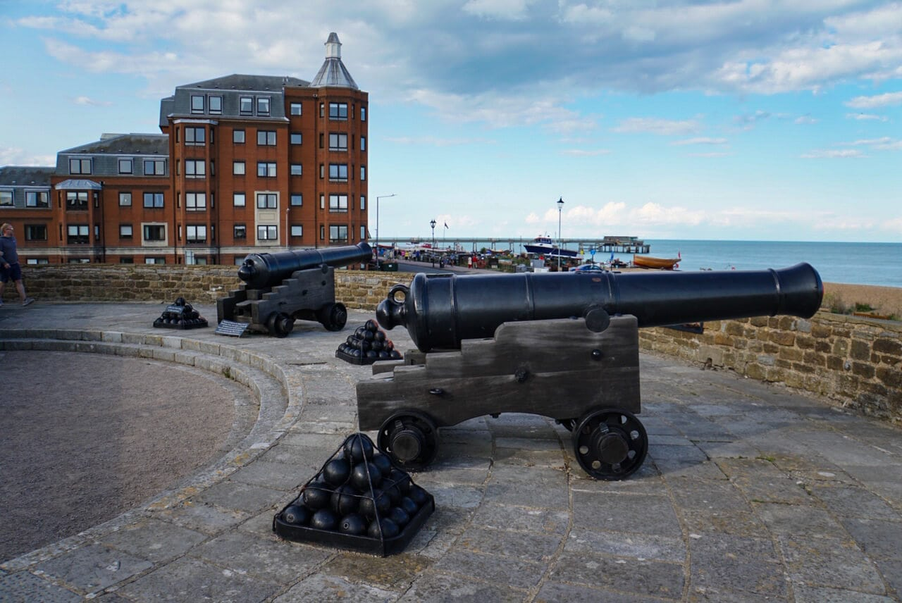 The Deal Castle canons helped defend the coast.