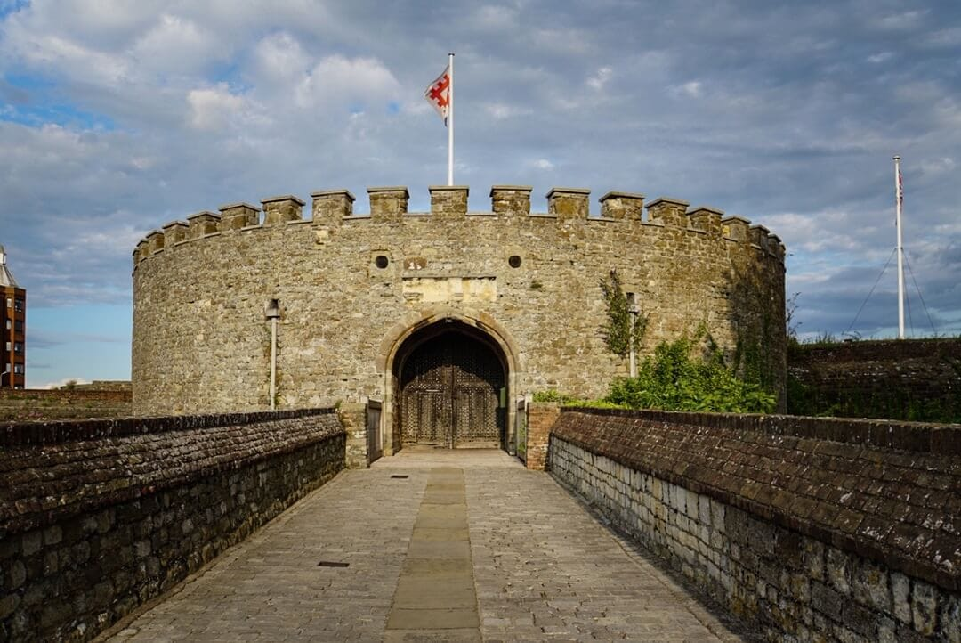 entrance to deal castle in kent england