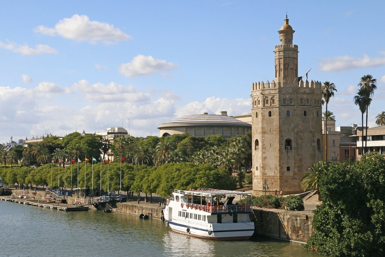 Torre del Oro, also called the Tower of the Gold in Seville Spain
