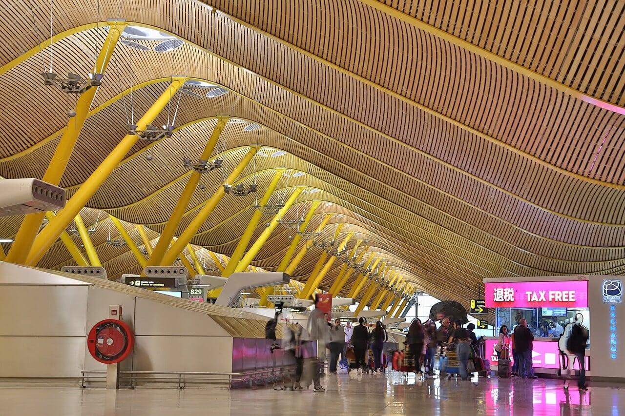 inside Madrid Airport