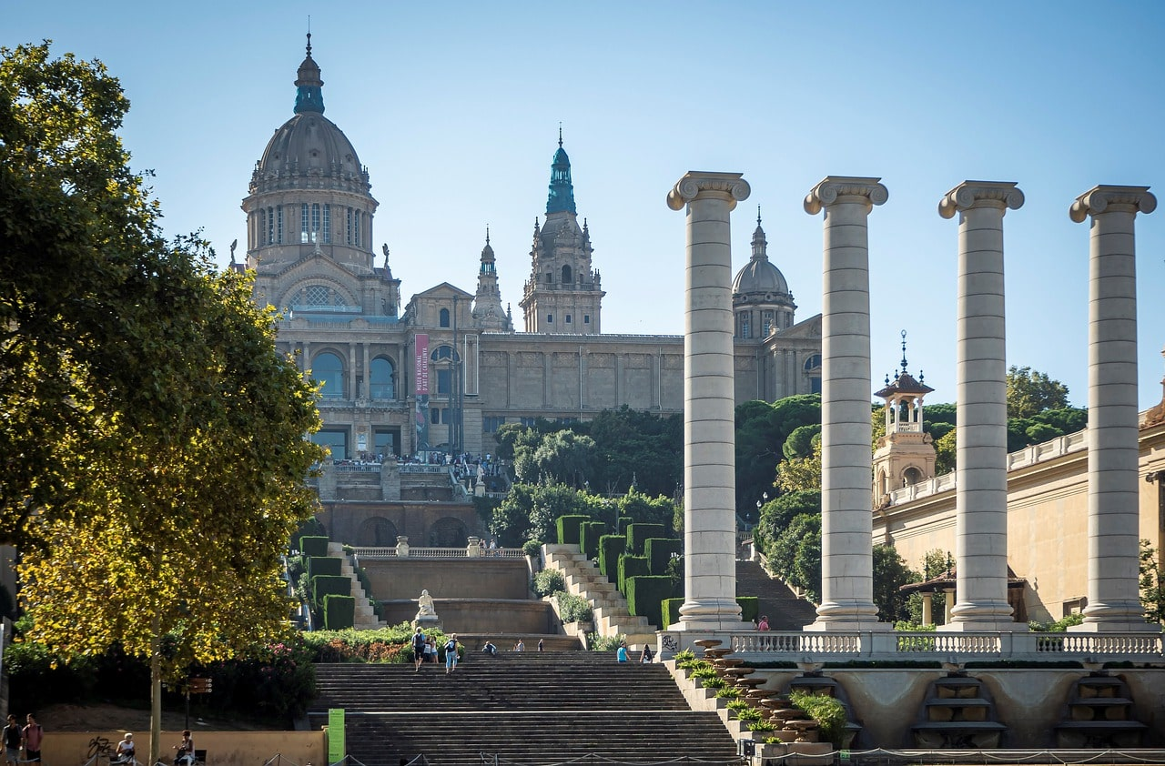The National Museum of Art of Catalunya in Barcelona