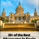 Barcelona museum with text overlay 20+ of the best museums in spain