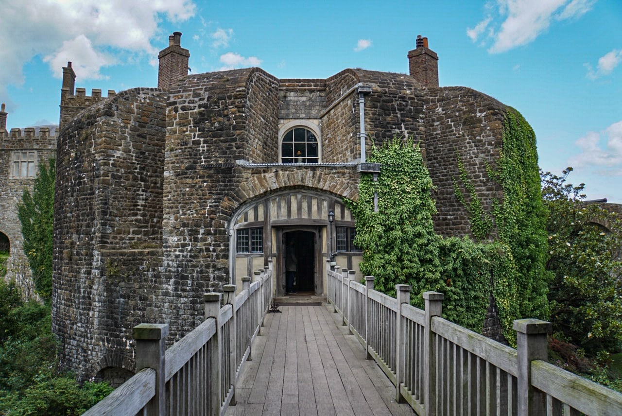 entrance to walmer castle in england