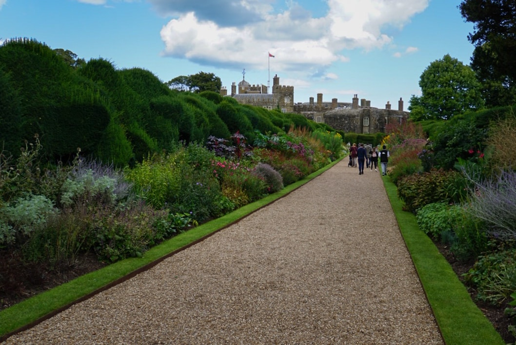 path in the walmer castle gardens in Kent