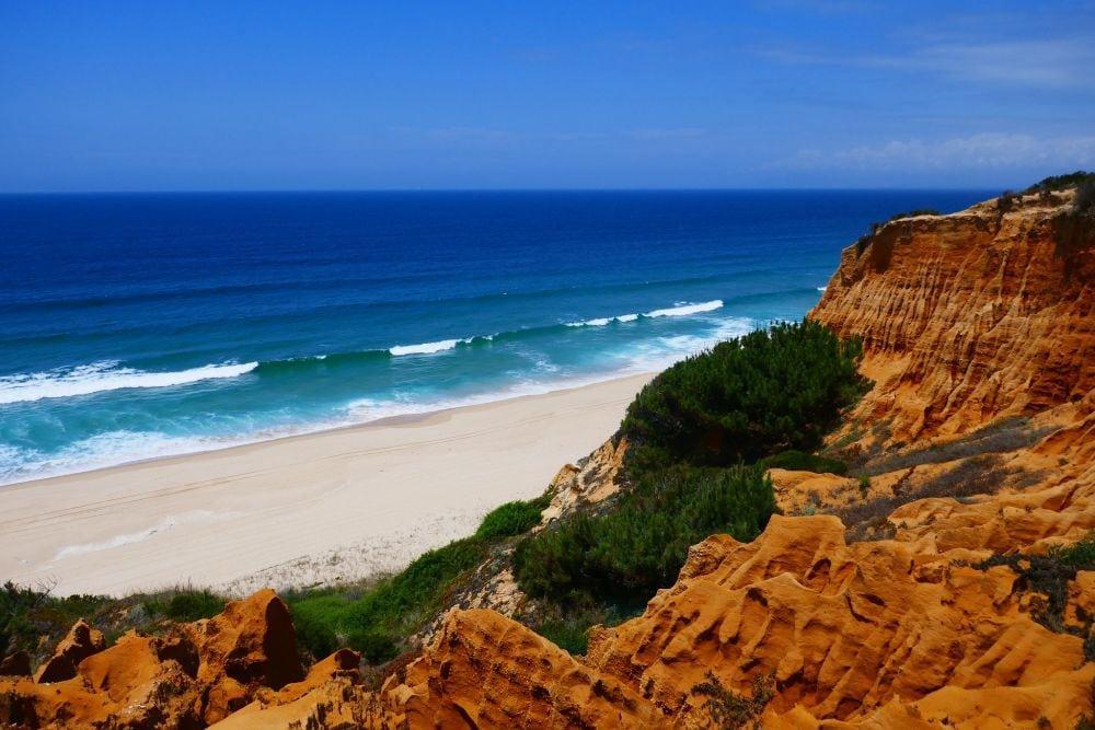cliffs of costa da caparica in Portugal