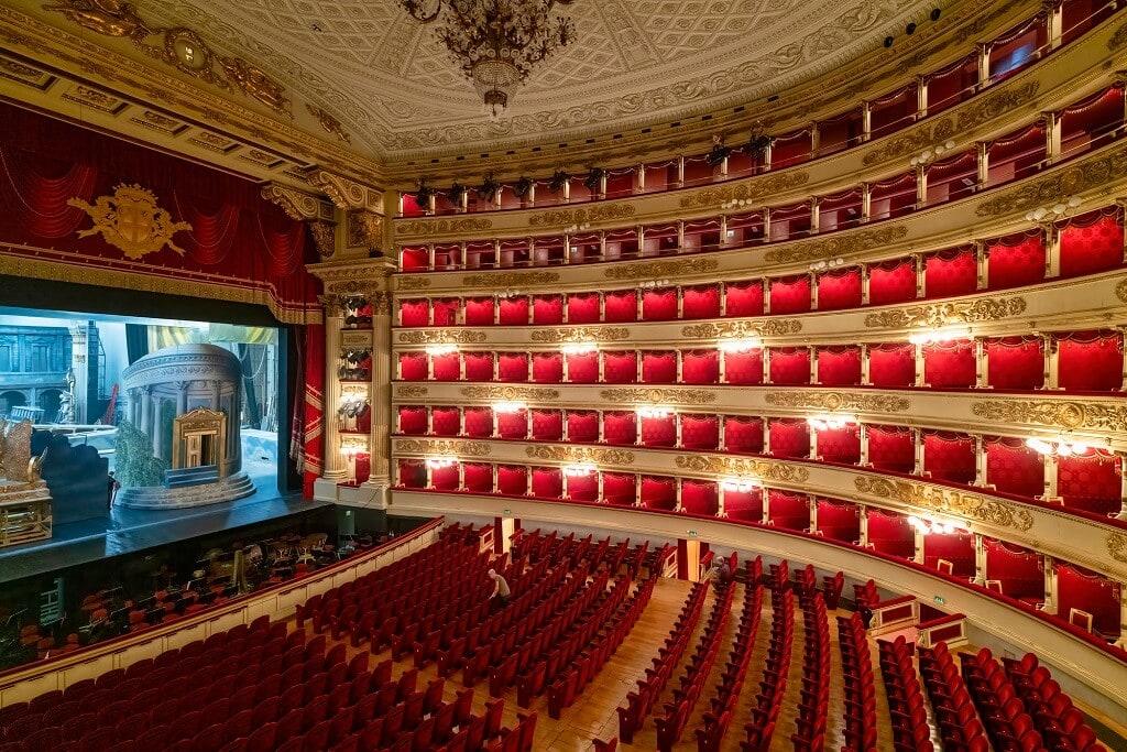 inside la scala theatre in milan
