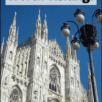 """the milan duomo with text overlay """"Is Milan Italy Worth Visiting"""""""