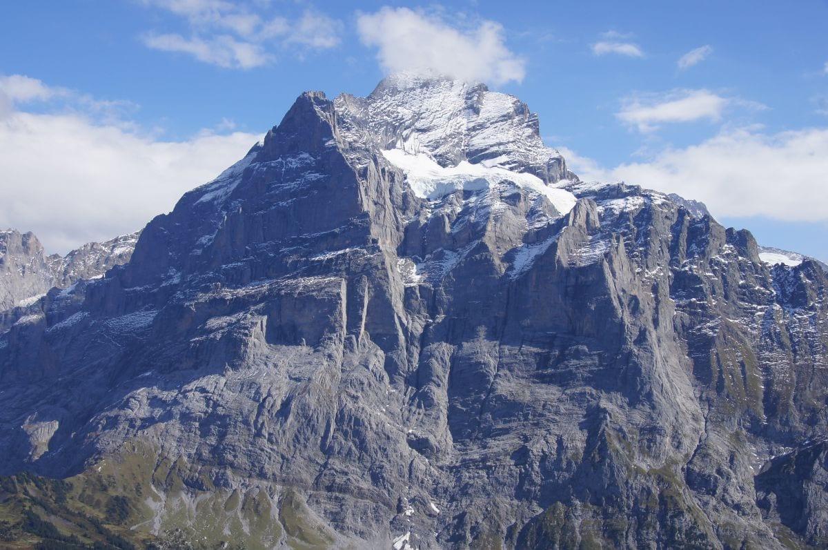 view of Wetterhorm from First in Switzerland