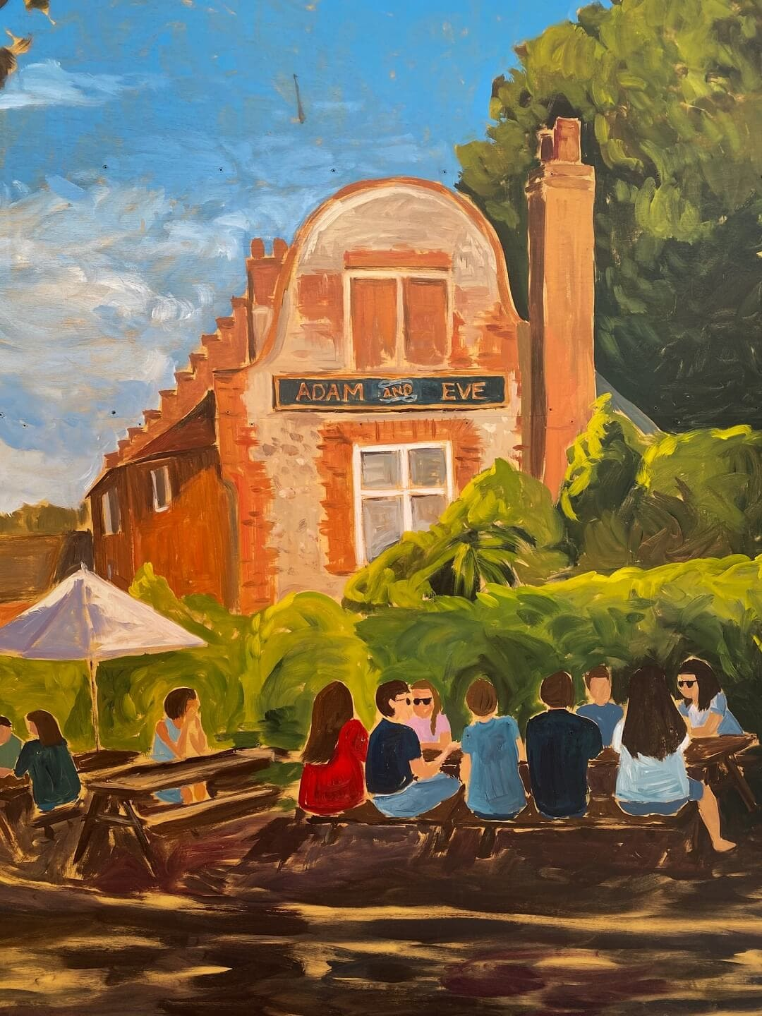 painting of the adam and eve pub