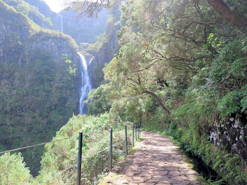 risco waterfall hike in Portugal