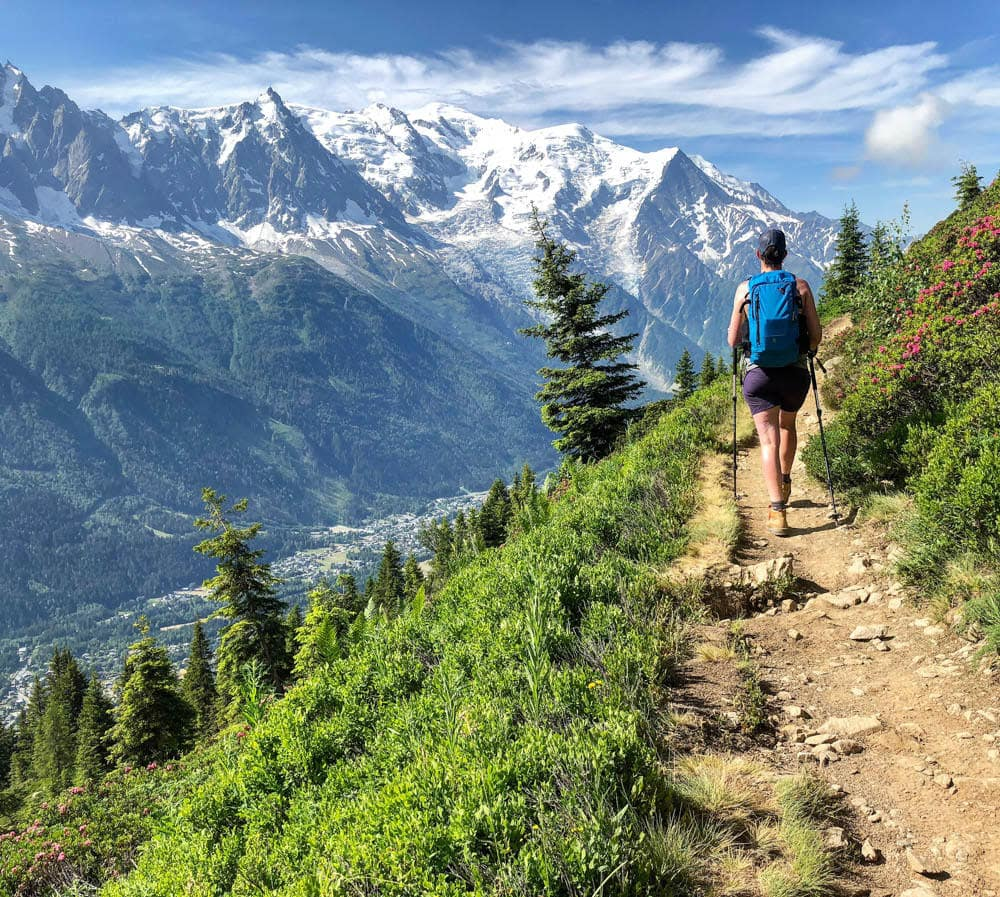 hiking trail on mont blanc