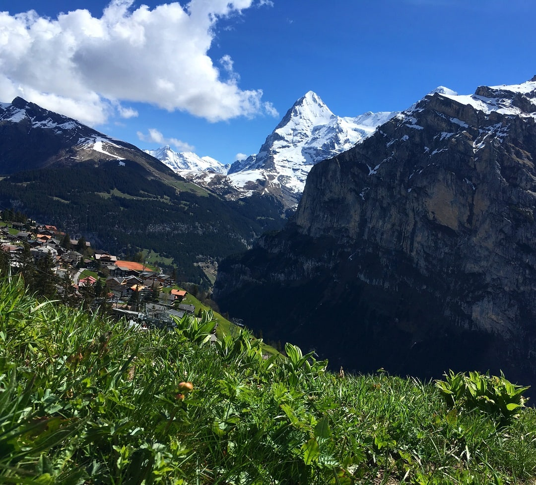 the spectacular mountain views from the north face trail in switzerland