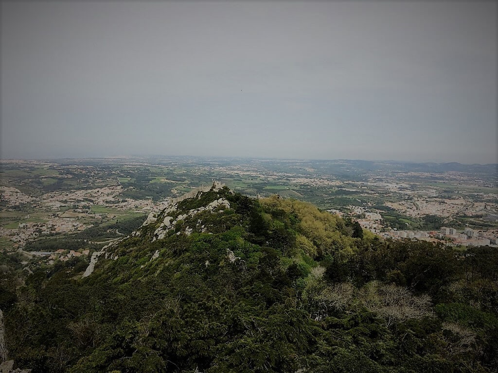 View of the Moorish Castle, in the Sintra hills