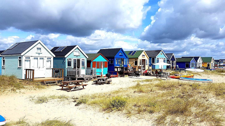 overnight beach huts in Christchurch