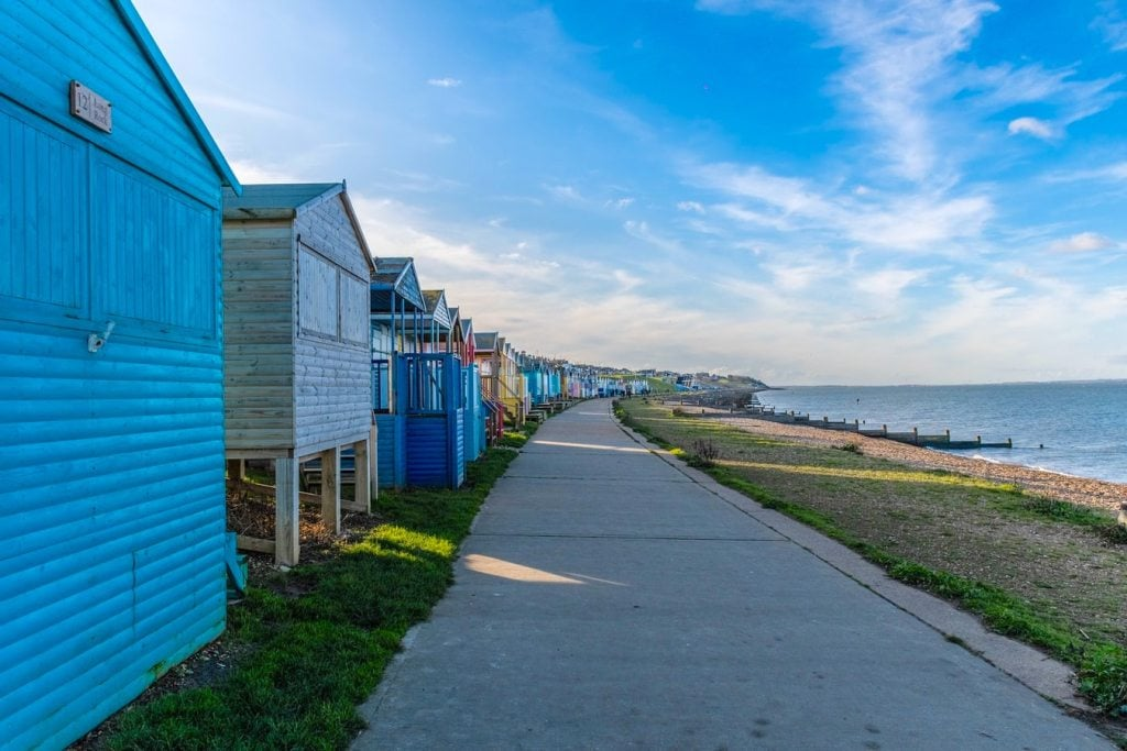 beach huts in Whitstable