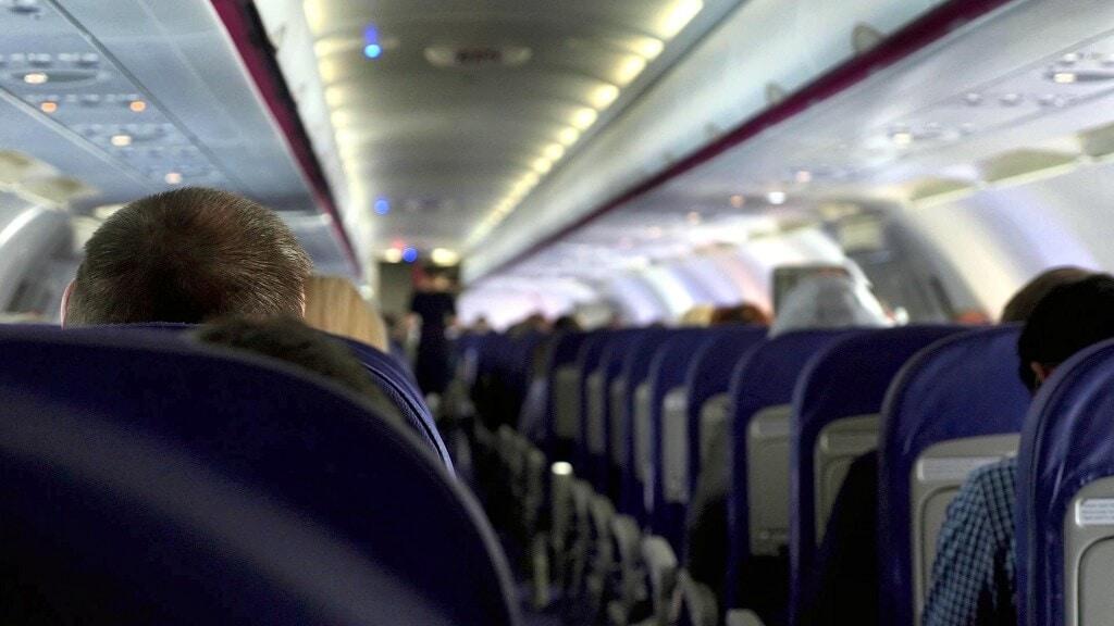 view inside a flight