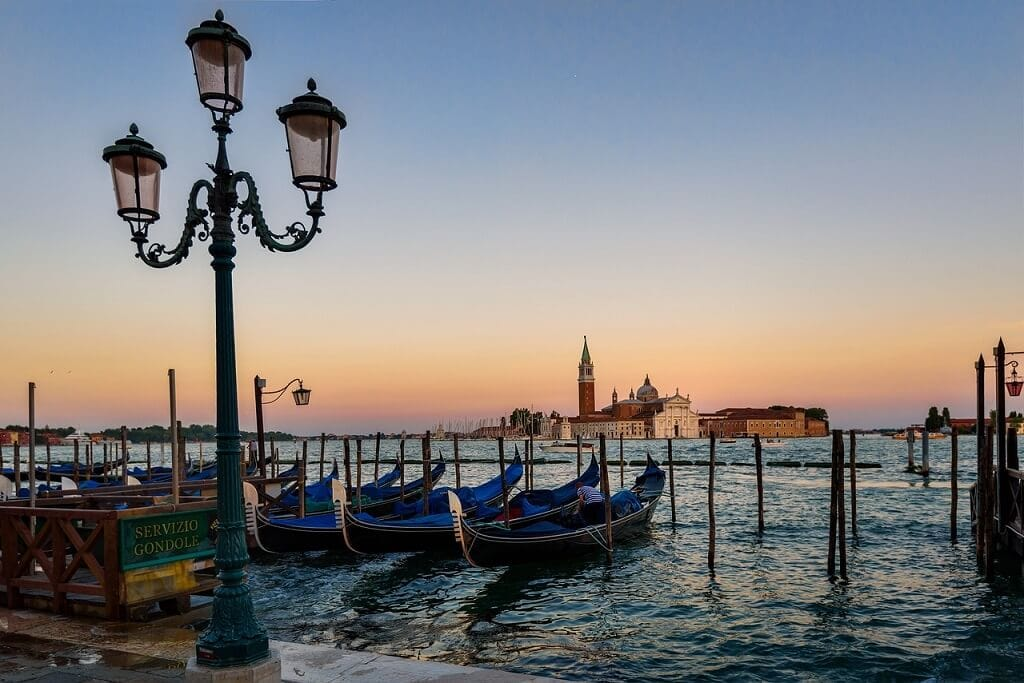 gondolas by st. marks square